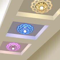 射灯创意水晶玄关灯客厅入户灯现代简约门厅筒灯led过道灯走廊灯