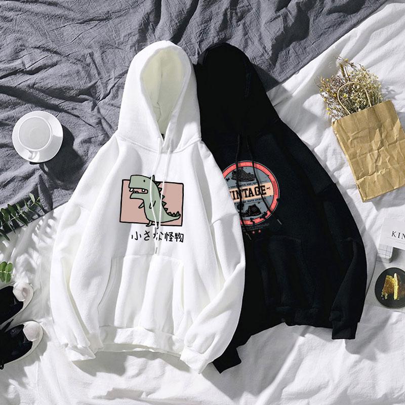 2020年春季卫衣男连帽黑色潮薄款休闲男士情侣装白色春秋款帽衫图片