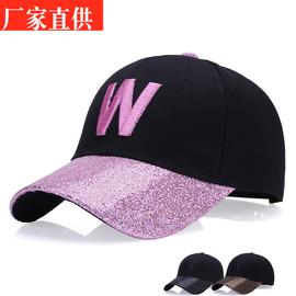 新款时尚女士韩版户外亮沿鸭舌帽秋冬季休闲防晒遮阳棒球帽子批发
