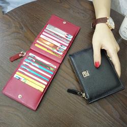 新款卡包女多卡位真皮超薄精致高档钱包一体简约小巧ins潮大容量