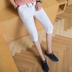 2018夏季新品韩版男士修身休闲运动七分裤K432-P35