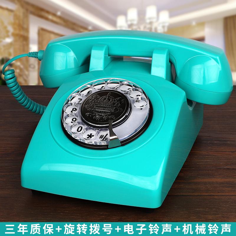 无线插卡电话机座机电信移动联通复古仿古电话机欧式旋转家用固话
