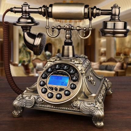 仿古电话机欧式复古老式旋转欧美式田园家用电话座机新款
