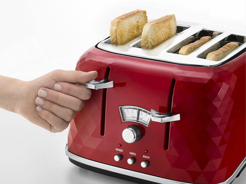 德国订购Delonghi德龙新款钻石切面烤面包机4孔多士炉CTJ4003包邮