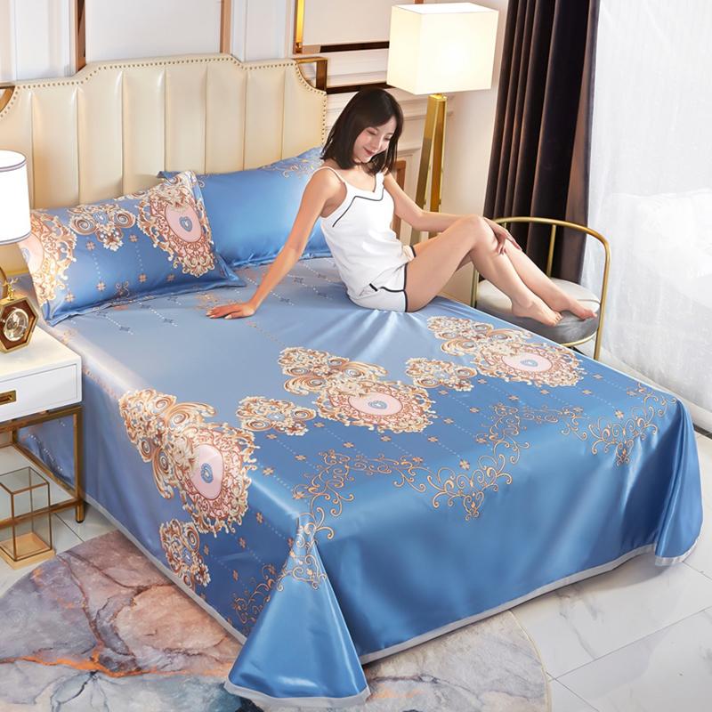 冰丝凉席三件套1.8m床可水洗折叠夏季1.5米1.2.0可机洗空调软席子