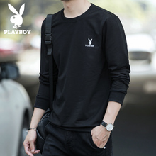 Playboy spring 2020 new men's long sleeved T-shirt base coat trend Top Men's loose and versatile sweater