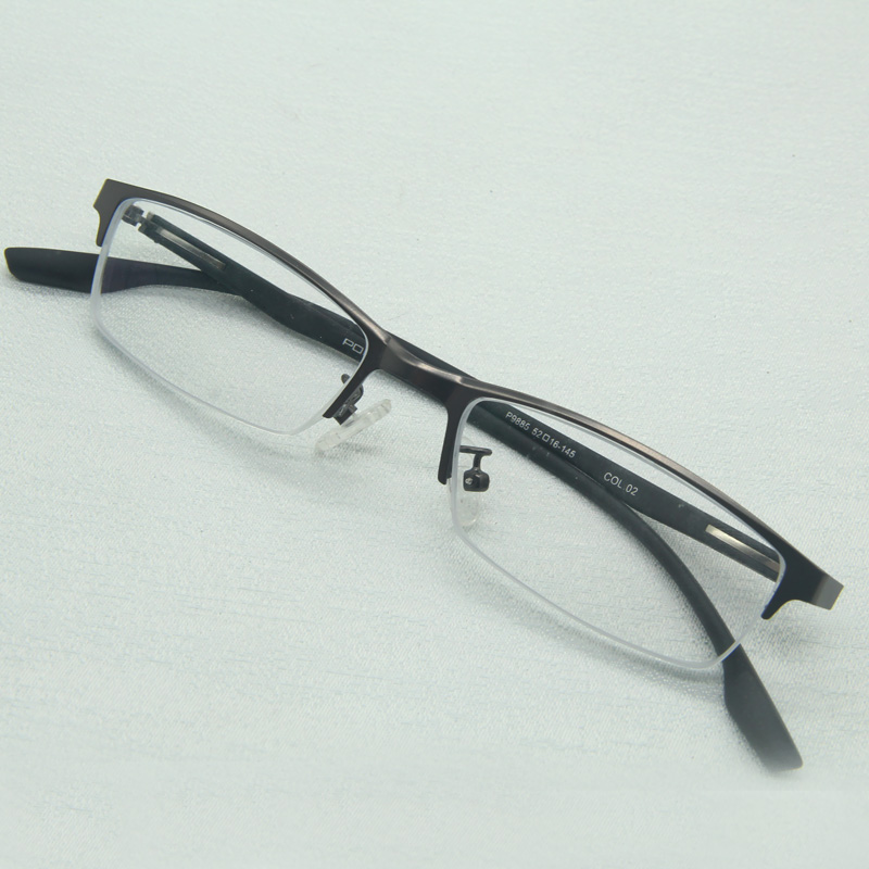 Small eyeglass frame, metal alloy half frame, ultra narrow glasses with myopia, literary style, fresh meat, mens and womens fashion