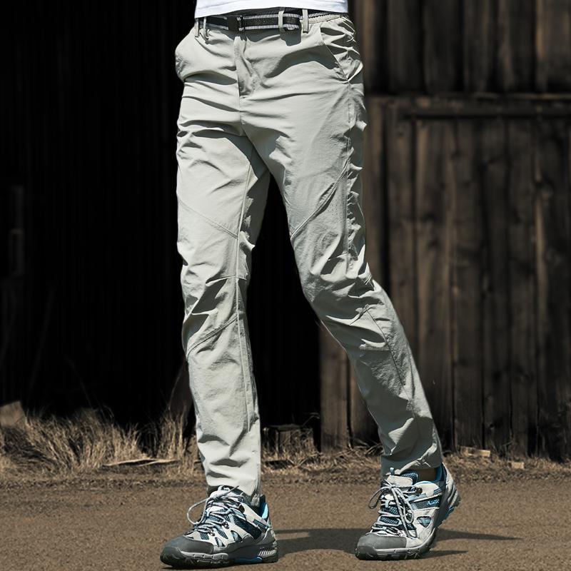 Быстросохнущие брюки мужские и женские Супер тонкое лето стиль Быстрая сушка воздухопроницаемый приталенный тонкий эластичные Наружные брюки для скалолазания большой размер