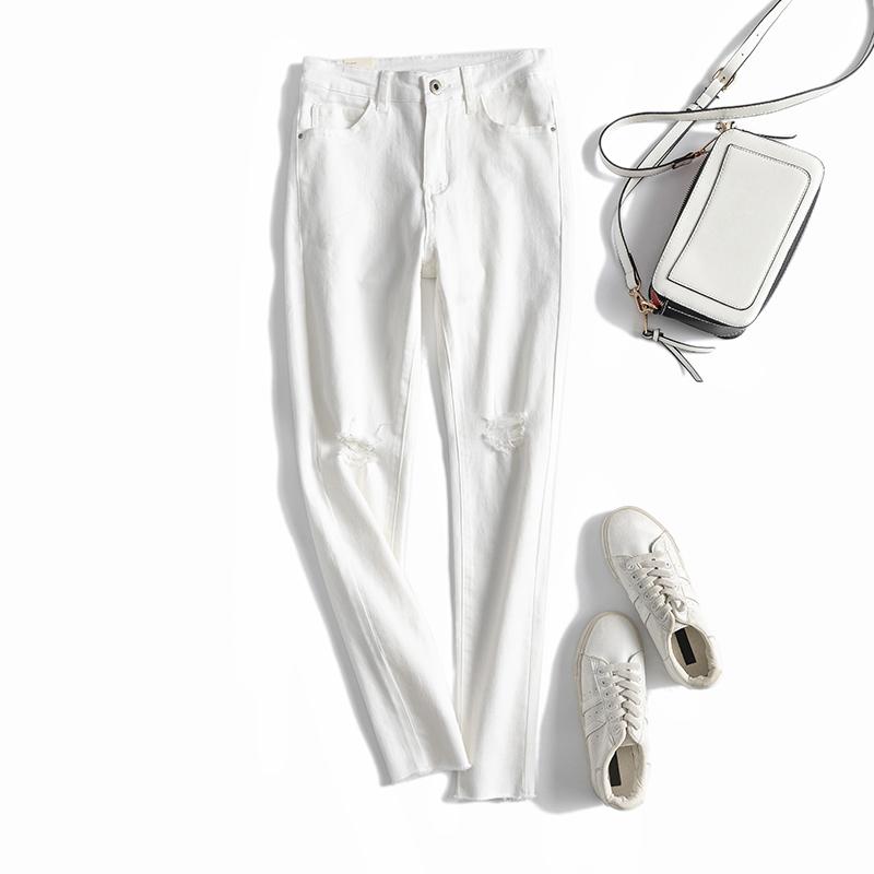 穿出壁纸筷子腿,力荐!版型狠好,修身高腰破洞牛仔裤百搭小脚裤