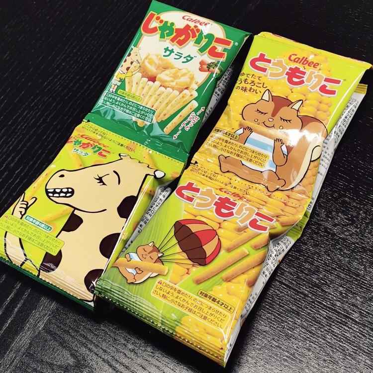 日本进口calbee卡乐比薯条玉米条宝宝儿童零食辅食非油炸4连包