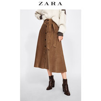 ZARA new womens clothing buckle corduroy skirt 04786277700