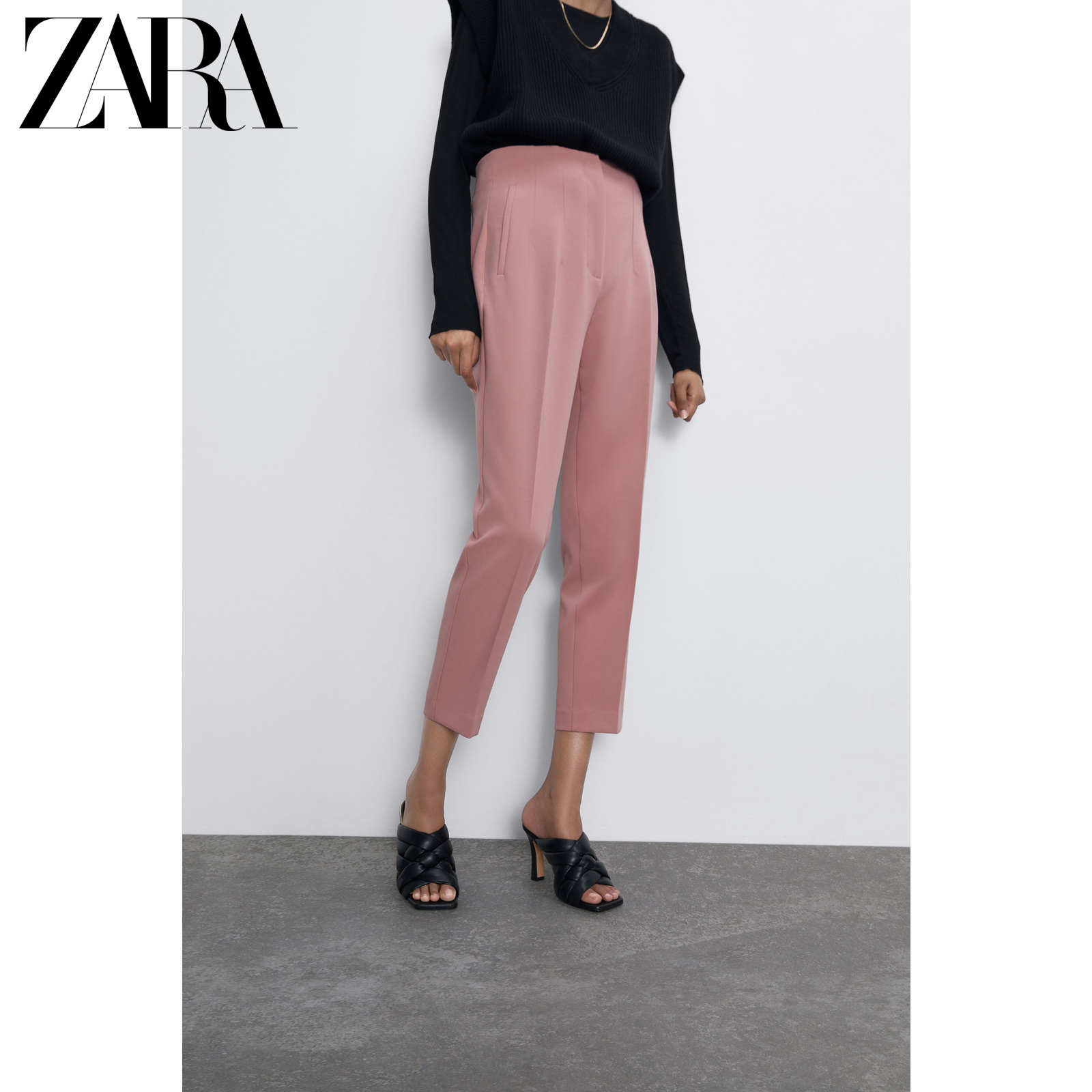 Zara new women's high waist pants 07901032676
