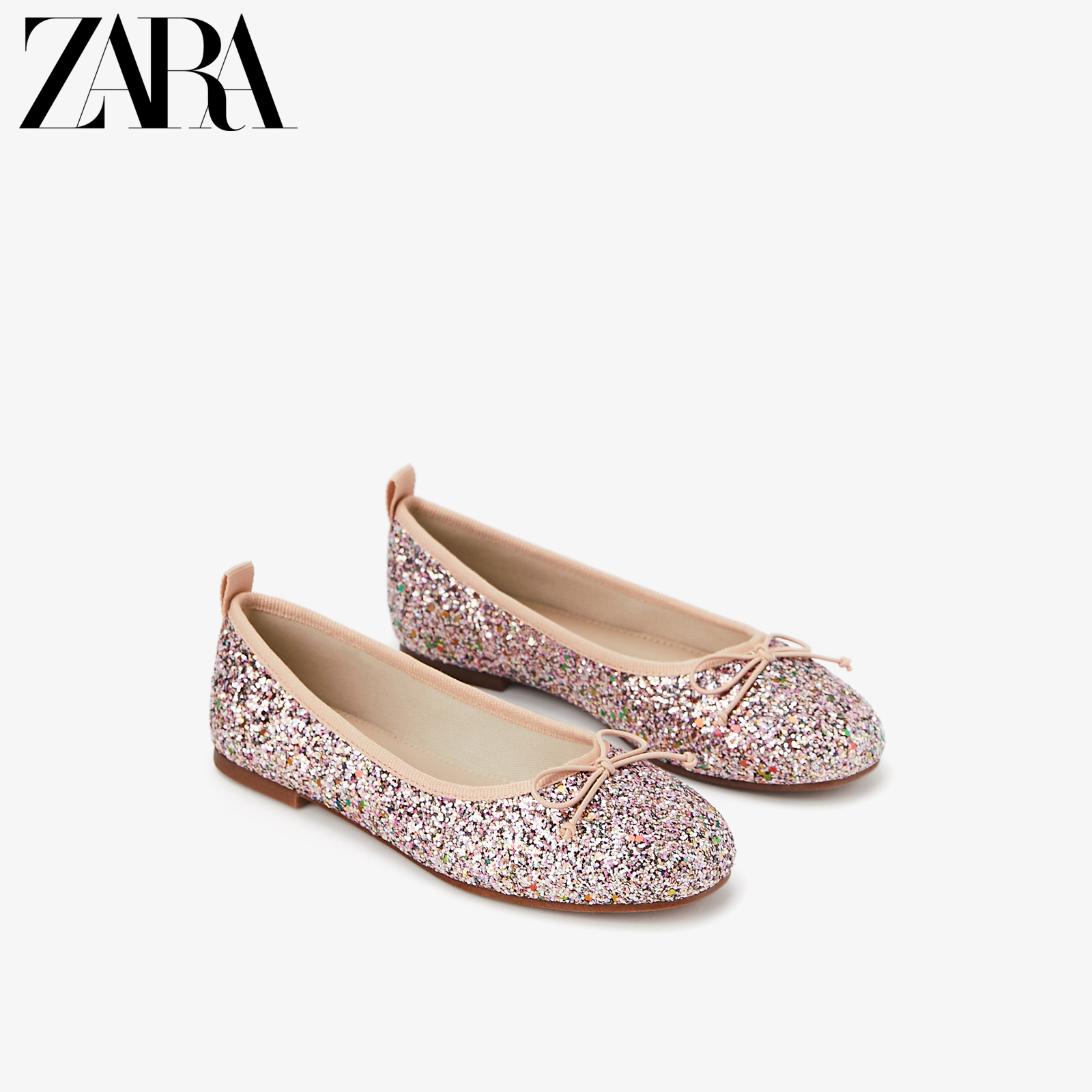 Zara new children's shoes girls' new bright ballet soft sole flat shoes 1359603050