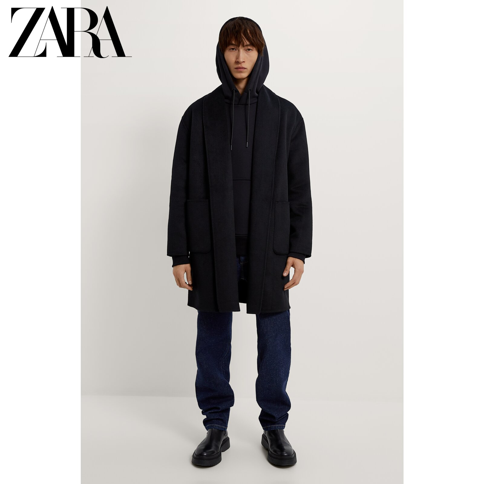 Zara new men's autumn and winter wool double-sided coat jacket 05854690800