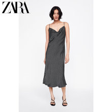 ZARA New Spring Female Dress Wave Point Hanging Dress 09479048800