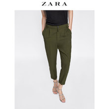 Discount ZARA Women's stretch waist pants 06136240500