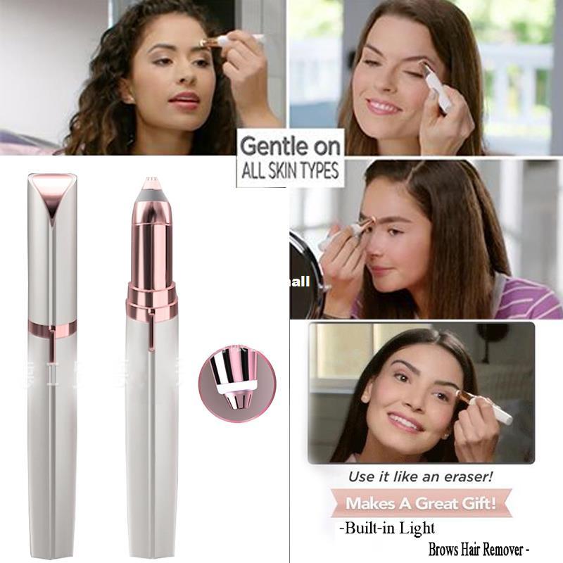 Mini Electric Eyebrow Epilator Lipstick Eyebrow Trimmer Lase