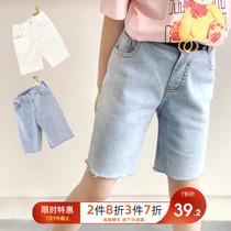 女童牛仔短裤2020新款夏装时尚小女孩休闲洋气儿童韩版外穿裤子