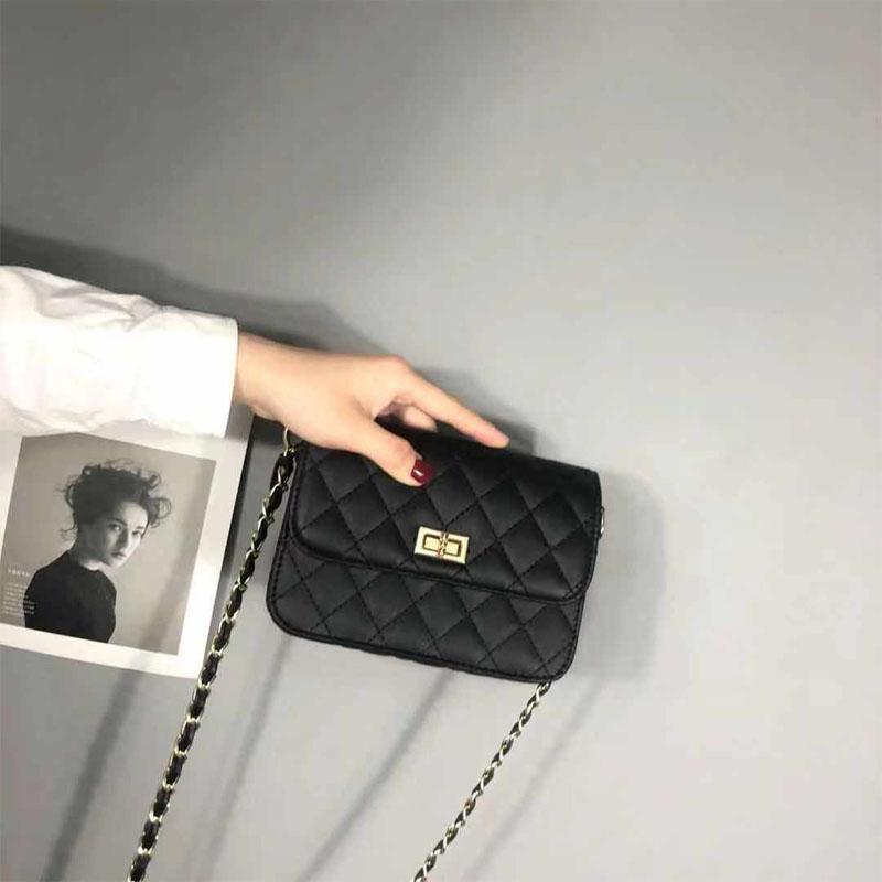 小香风菱格链条包包女2021新款潮百搭斜挎包chic迷你韩版小包迷你