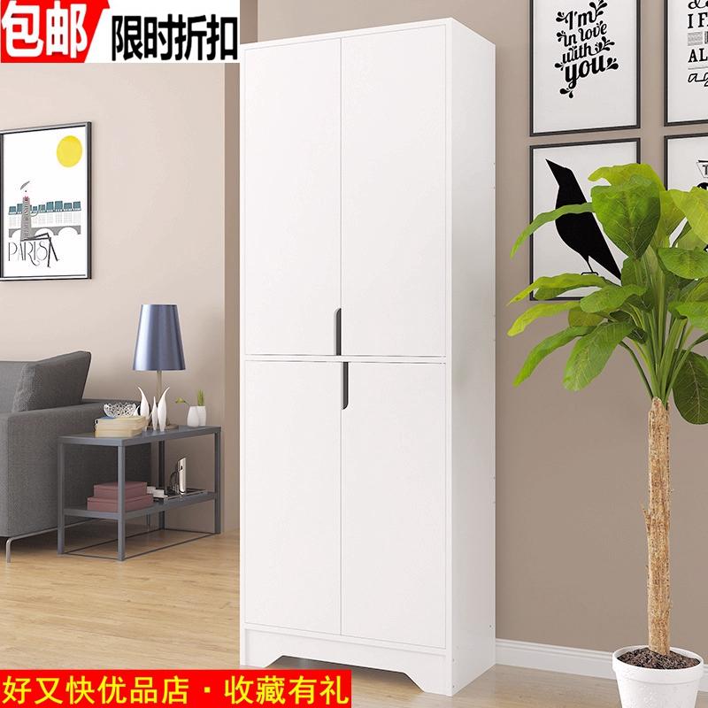 [暖] белый [超] высокая дверь [厅柜欧式储物柜玄关柜大容量鞋柜宽60] толстая 30 высокая 81/162cm