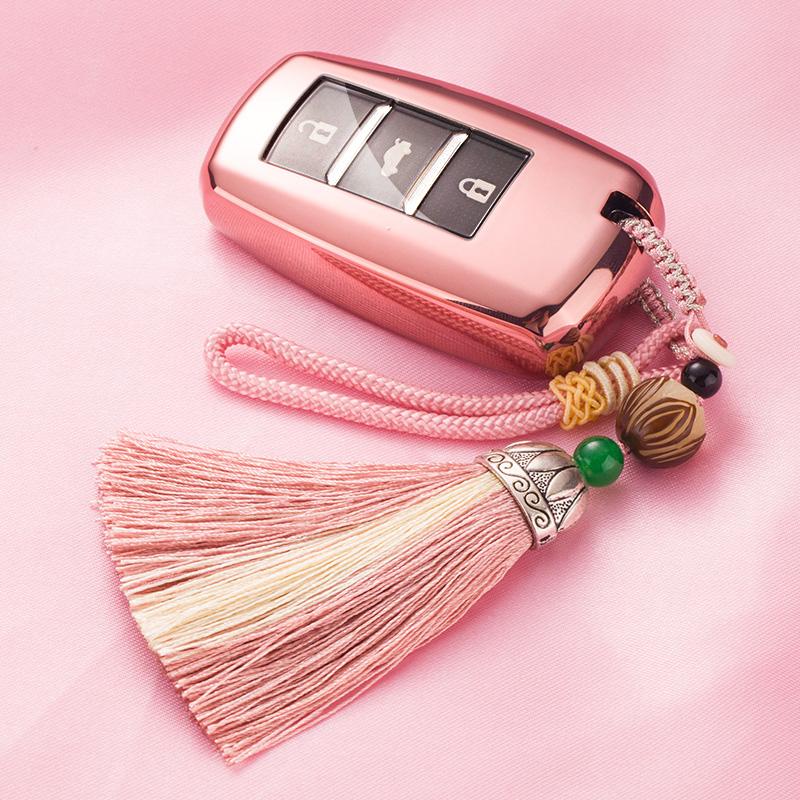 汽车钥匙包专用于长安逸动CS75/CS55智能钥匙套壳女士扣2018款18