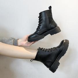 马丁靴女英伦风2020新款秋季百搭帅气黑色厚底ann网红机车短靴潮图片
