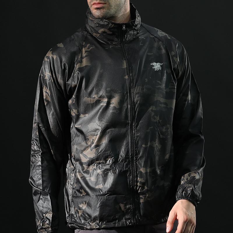 夏季户外防晒皮肤衣男女轻薄透气防水速干特种兵战术迷彩风衣大码