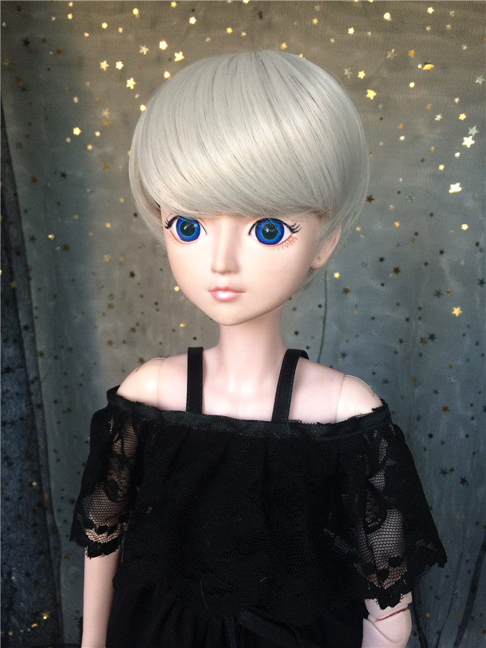 BJD SD 3468 male and female baby uncle antique wig silver grey cute boy short hair