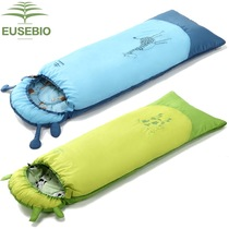 Eusebio sleeping bag children spring summer autumn and winter outdoor thickening warm indoor anti-kick by students lunch bag