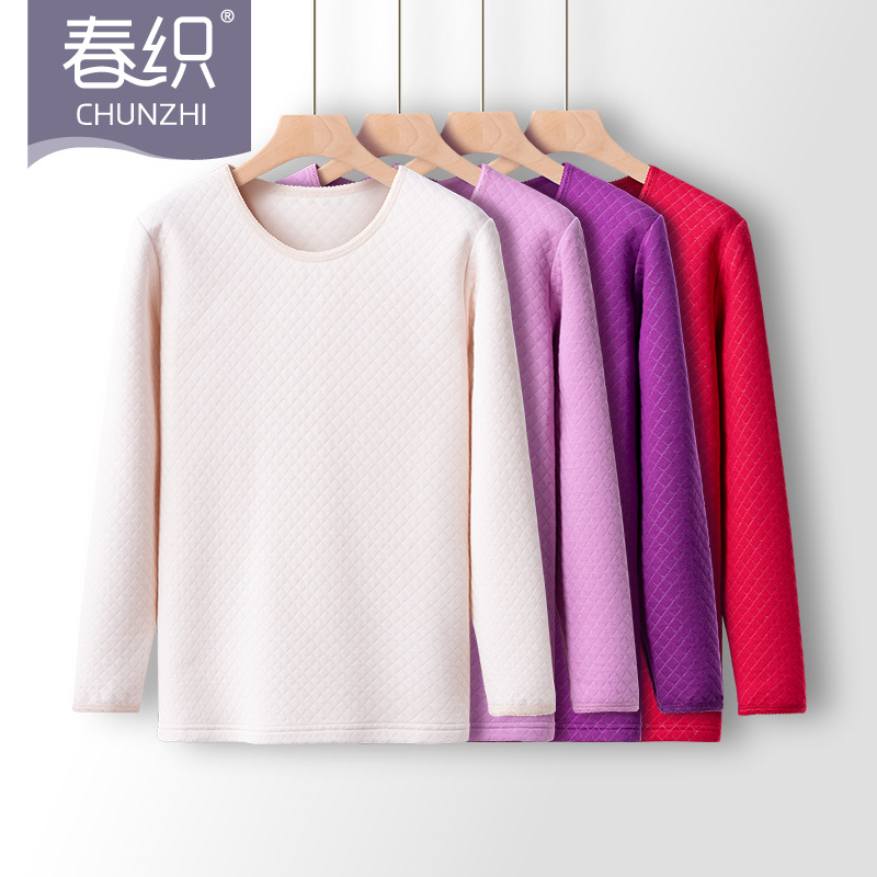 Elderly mens and womens high and low age thermal underwear top, middle-aged and old mothers thickened cotton sweater
