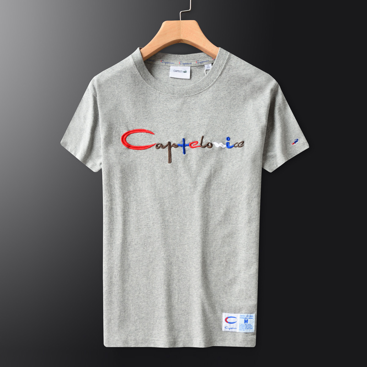 【商场同款】卡帝乐鳄鱼男士休闲夏季圆领短袖T恤-CA871532