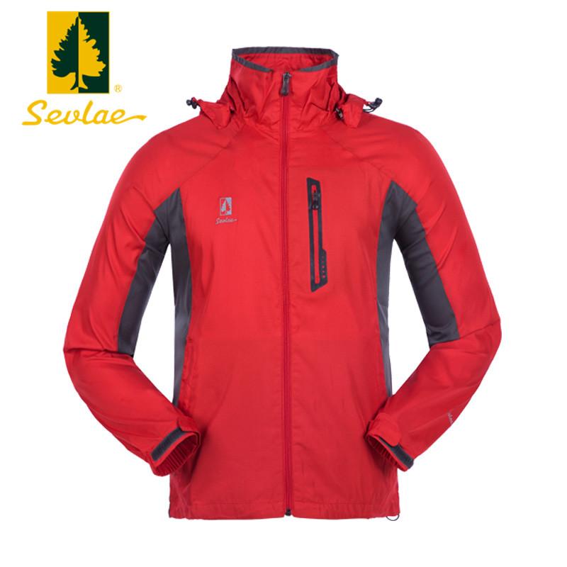 圣弗莱/sevlae男式单层薄款冲锋衣户外运动男士外套休闲轻薄风衣