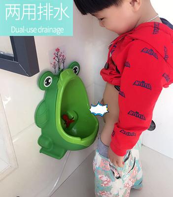 男童站立式小便器挂墙式宝宝小便斗 幼儿园儿童小便池 自动排尿款