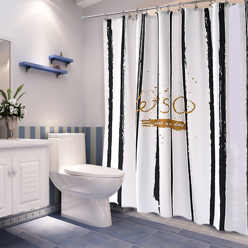 Занавески для душа водонепроницаемый анти плесень вешать занавес ванная комната занавес отрезать занавес оттенок ikea личность ванная комната занавески для душа ткань
