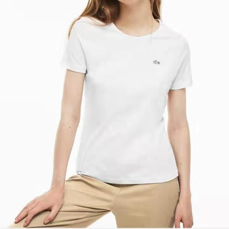 Crocodile women's new spring and summer 2019 women's simple round neck solid color short sleeve cotton T-shirt tf3080