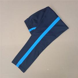 藏蓝色宽蓝条校服裤子一道杠初中高中学生运动长裤春秋季单层校裤图片