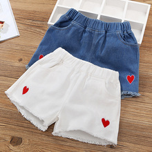 Girls'Jeans Shorts Summer 2019 New Kids' Foreign Style Baby Wears Girls'All-Pants Thin Summer Dress