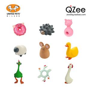 QZee意大利UNITED PETS进口宠物狗狗玩具 猫咪快乐农场发声犬咬胶