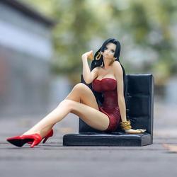 海贼王手办 路飞 女帝坐凳子人偶摆件二次元动漫模型生日礼物玩具