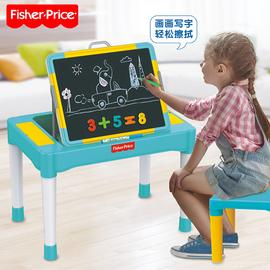 费雪学习桌儿童多功能积木桌子拼装玩具益智宝宝男女孩子1-3-6岁