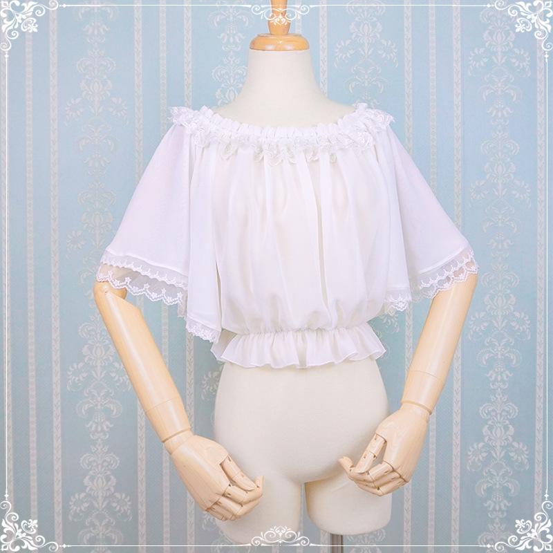 オリジナルの夏lolita洋服Lolita内にブラウスのシフォンシャツを掛けます。