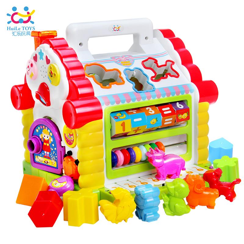 汇乐趣味739智慧小屋儿童形状配对积木宝宝早教益智玩具台1-3岁