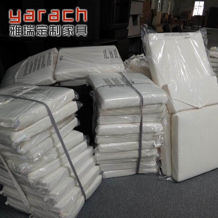 定制户外藤沙发坐垫防水防晒坐垫靠垫椅子海绵坐垫连体坐垫涤纶布