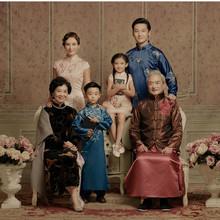 儿童摄影服装影楼拍照全家福六口亲子装韩版时尚中国风2019新款
