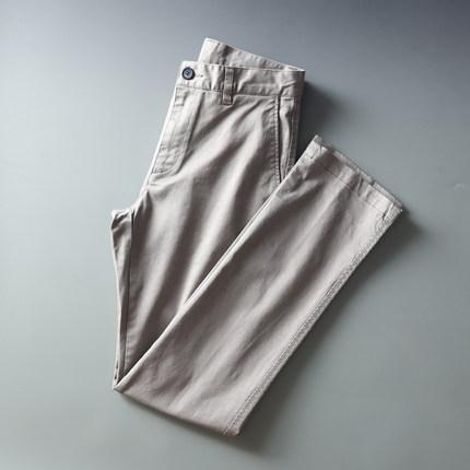 国内剪标休闲裤夏季薄款工装裤素色男式直筒复古休闲长裤子爸爸装