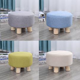 小凳子网红家用时尚创意布艺矮凳客厅沙发凳圆凳换鞋凳懒人小板凳图片