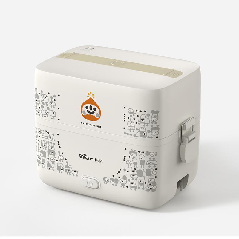 小熊微笑系列电热饭盒保温可插电加热自热蒸煮热饭神器上班族便携