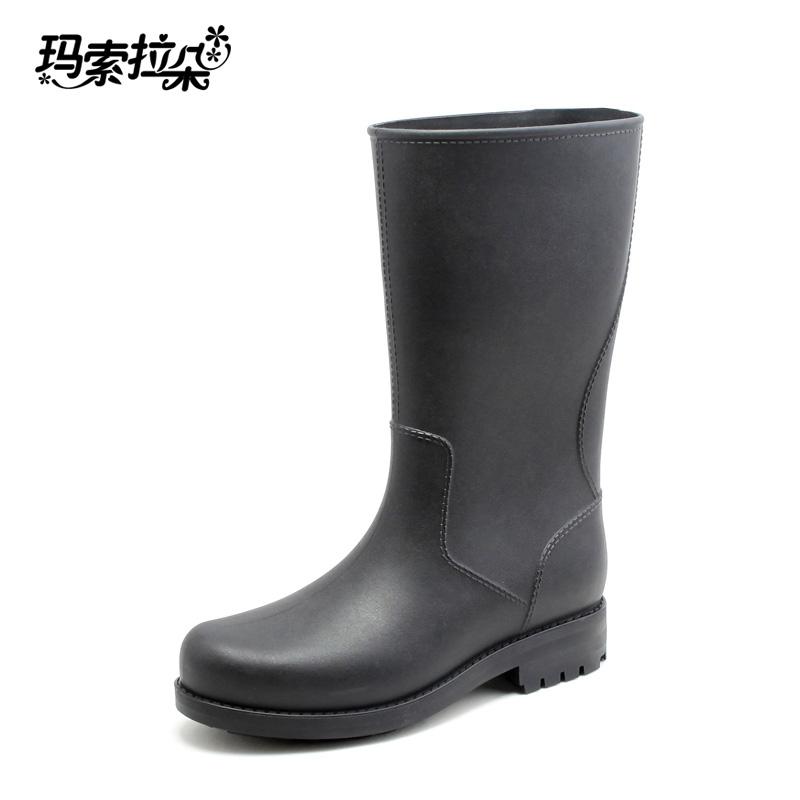 德係全地形雷神男士中高筒雨鞋釣魚靴雨靴水鞋套鞋膠鞋防水鞋防滑