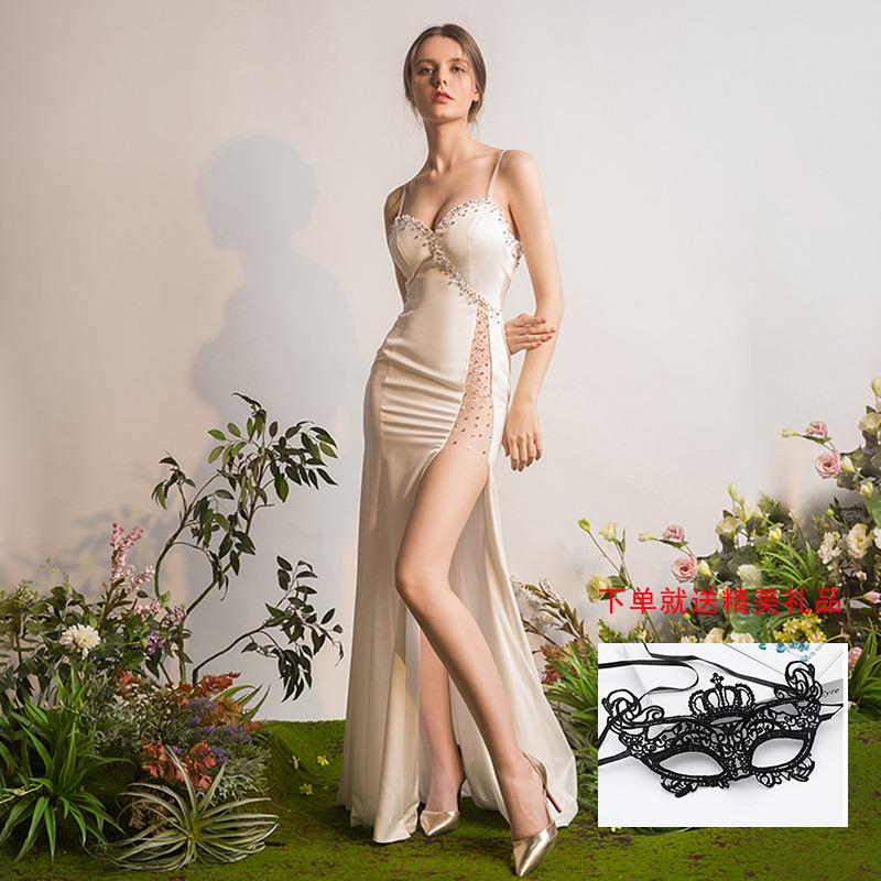 宴会晚礼服2018新款时尚性感夜店女装长款修身派对聚会连衣裙夏季