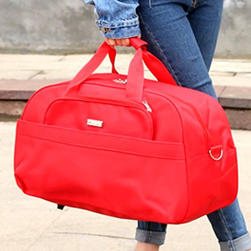 Waterproof nylon hand-held travel bag business travel large capacity mens and womens luggage wedding red short distance travel bag